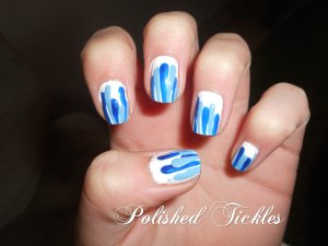 Blue Paint Drip