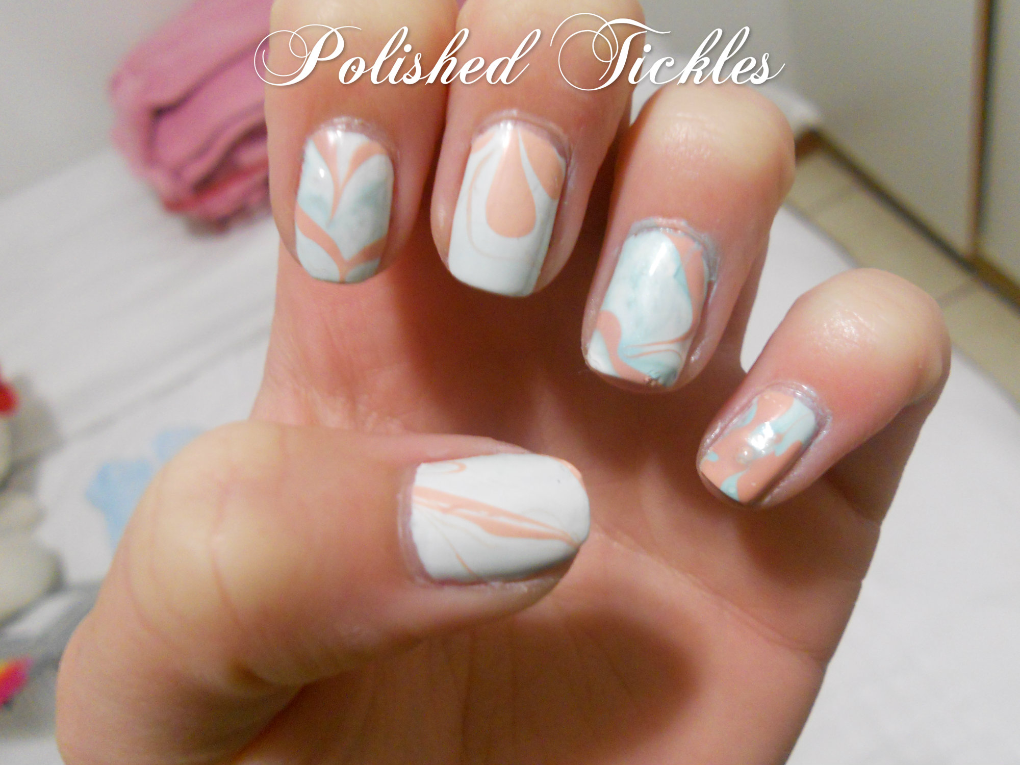 Summer Nail Art Challenge Water Marble Technique Polished Tickles