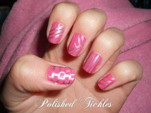 Pink & Silver Stripes