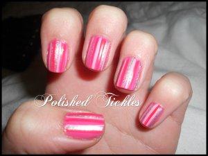 Pink Stripe Mani
