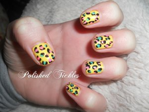 3. Yellow & Animal Print