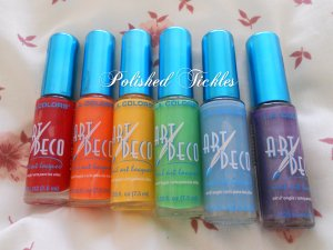 Rainbow Polishes Used