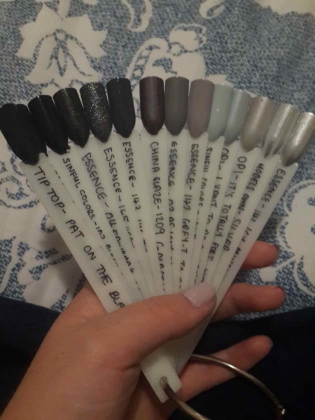 Black, Grey & Silver Swatches