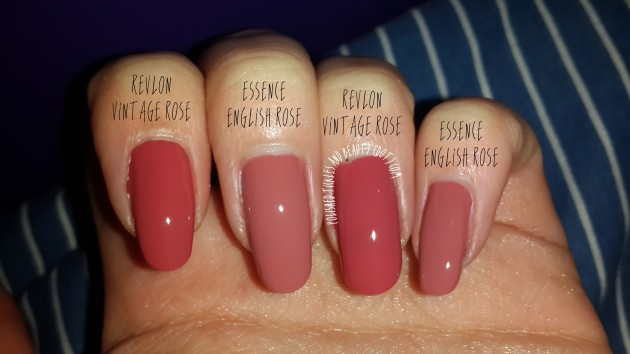 Revlon vintage rose vs essence english rose